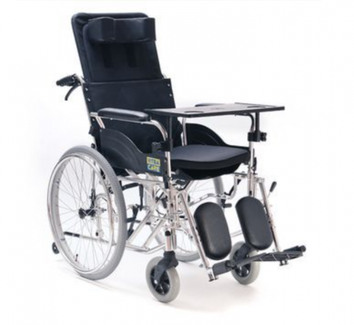 Recliner Special wheelchair stabilizing back and head