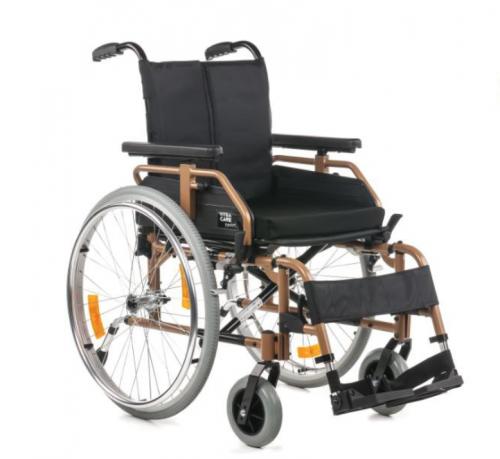 Gold aluminum wheelchair