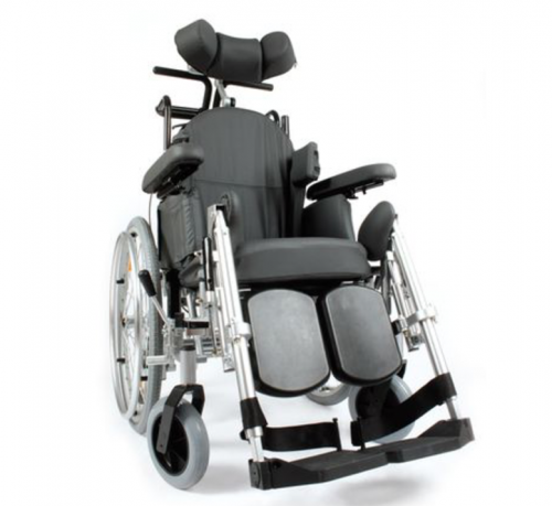 Special wheelchair stabilizing back and head